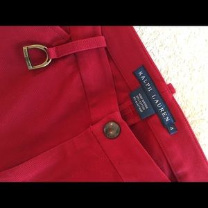 Ralph Lauren Red Riding Pants with Suede Patches
